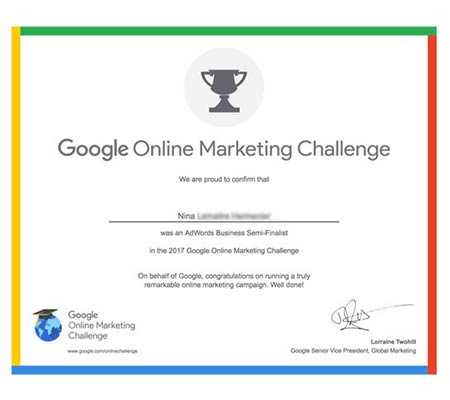 Prix du Google Online Marketing Challenge