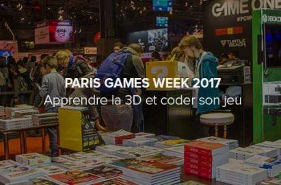 Apprendre la 3D et le jeu vidéo à la Paris Games Week